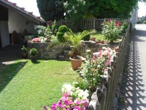 Garten vor Ferienwohnung